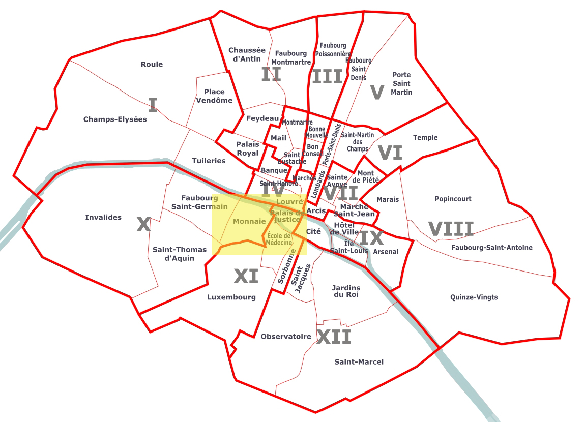 Les 12 arrondissements de Paris